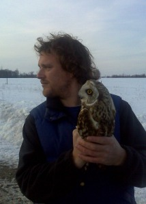 Jody with his first Short-eared Owl